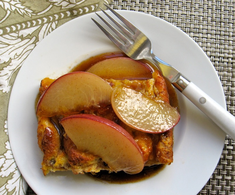 bread pudding peach