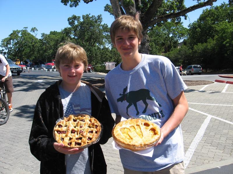 cherry pie & peach pie