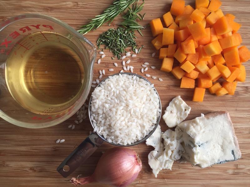 risotto with butternut squash & gorgonzola