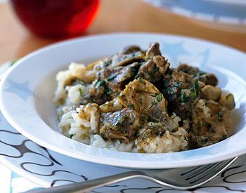 lamb stew with artichokes