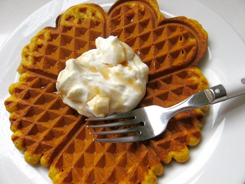 oat & cornmeal waffles