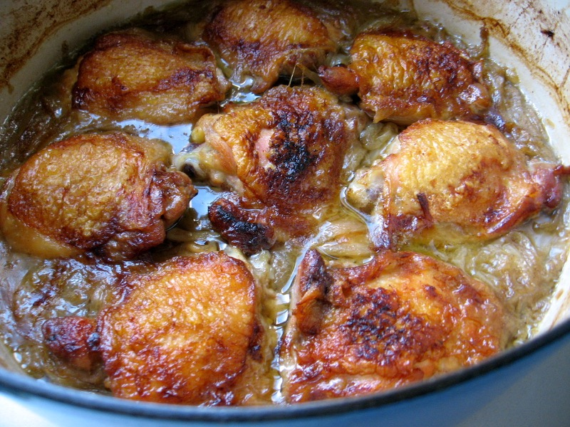 chicken beer onions