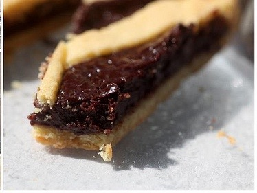 chocolate cherry crostata