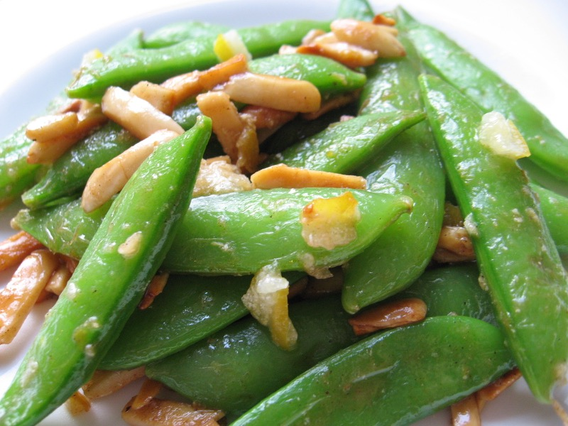 snap peas lemon