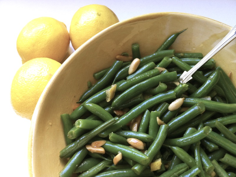 green beans lemon