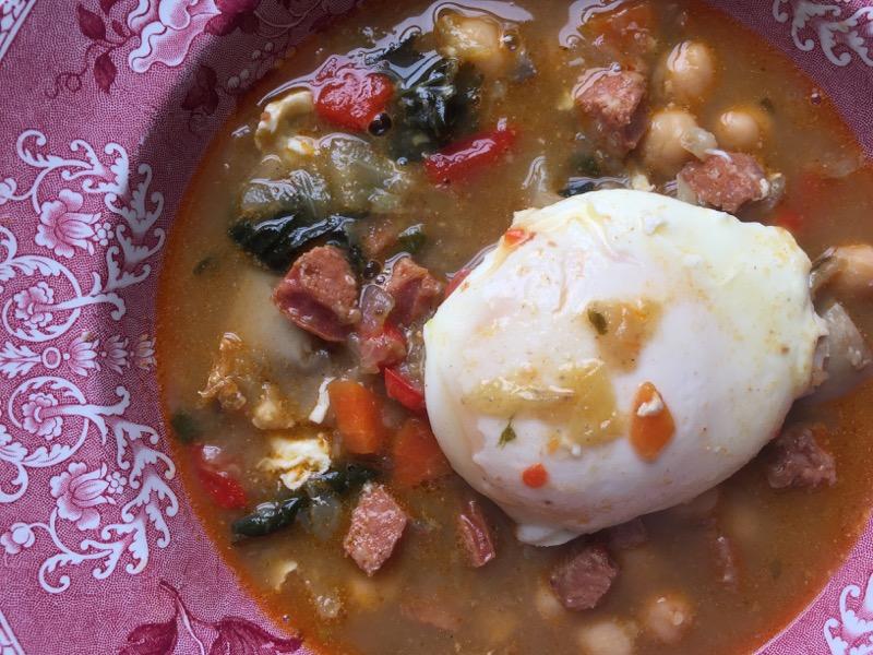 sausage soup w egg