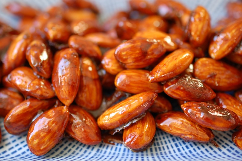maple soy almonds