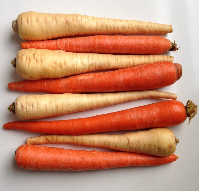 carrots parsnips