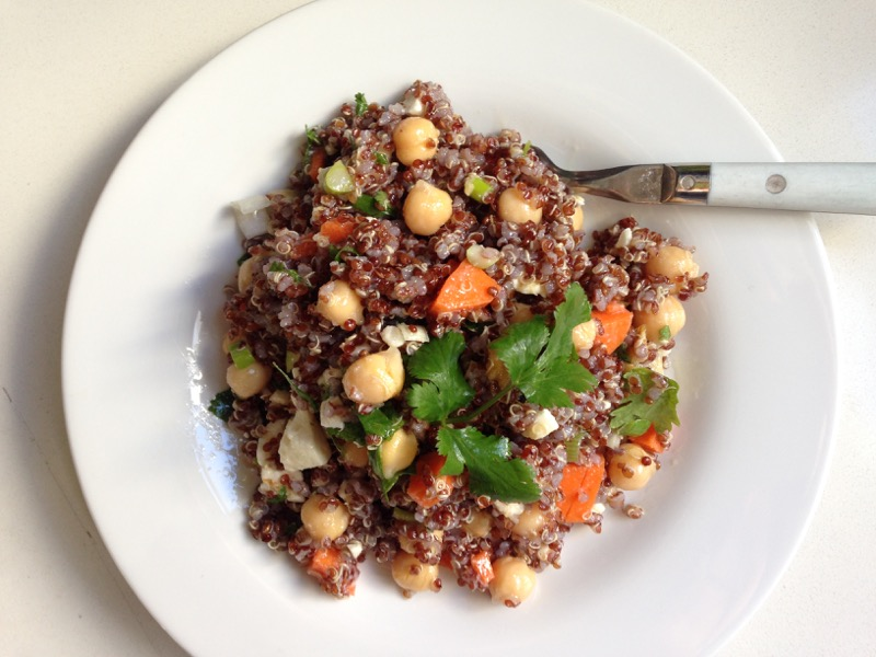 quinoa garbanzos
