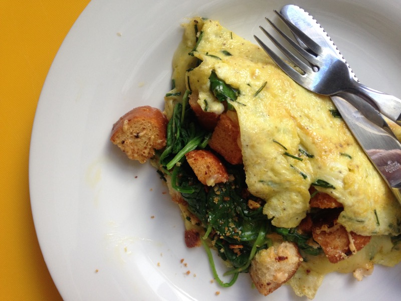 omelet croutons