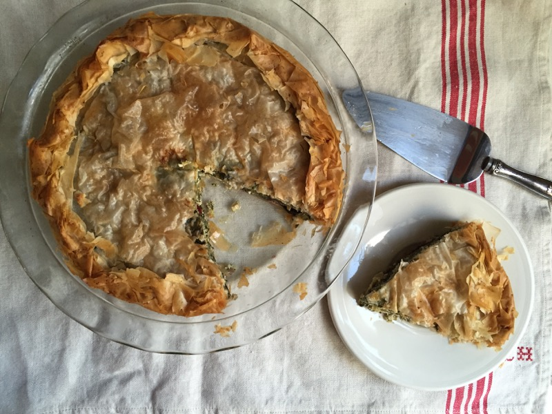 greek greens pie