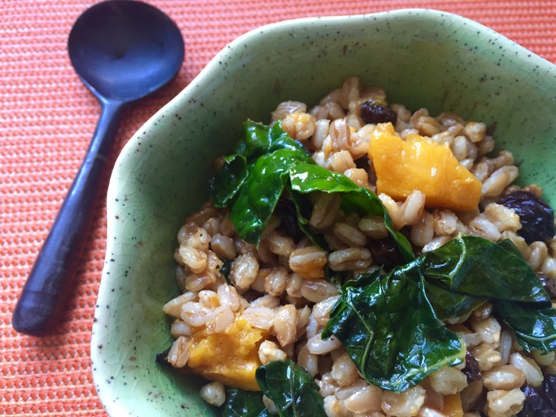 farro squash kale currants
