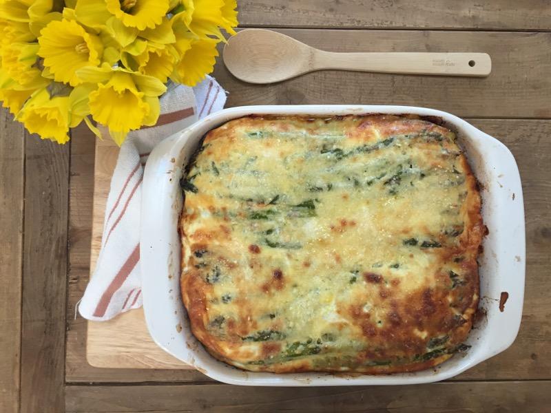 asparagus gruyere bread pudding