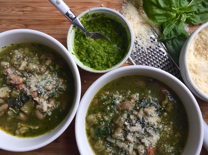 minestrone genovese kale pesto