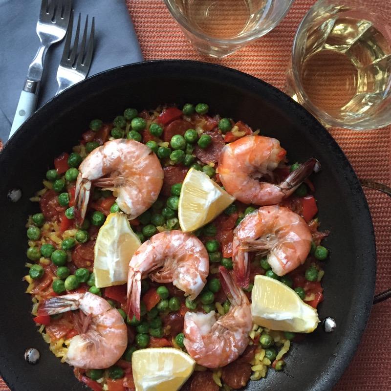 paella chorizo seafood shrimp
