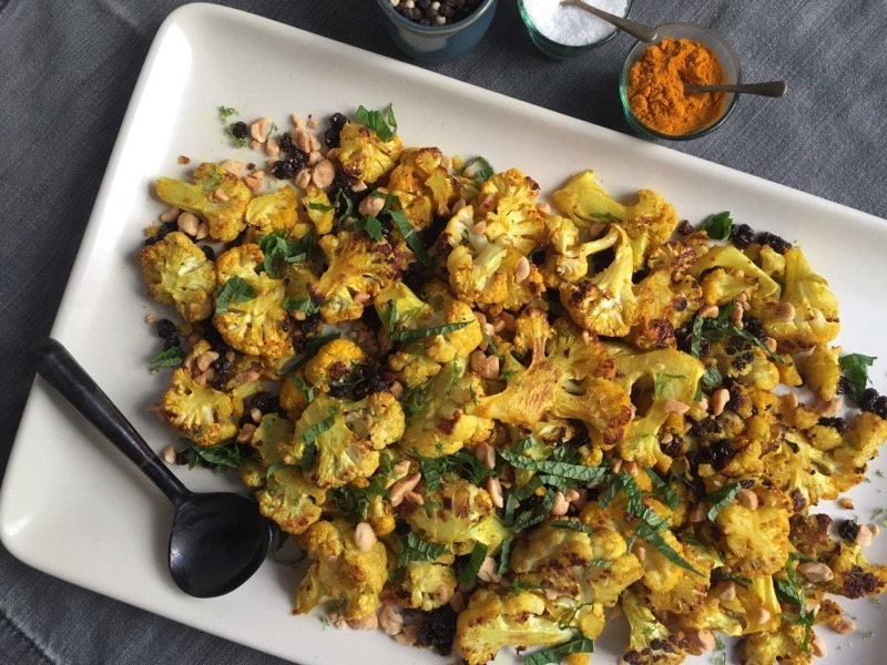 blistered curry cauliflower