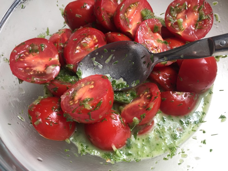 anna's mom's pickled tomatoes